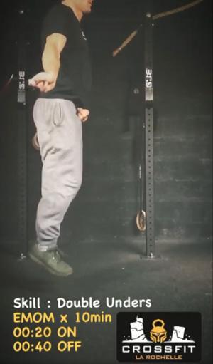 Exercices de CrossFit sans matériel cardio corde à sauter