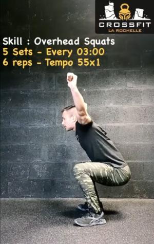 Exercices CrossFit sans matériel bas du corps overhead squat
